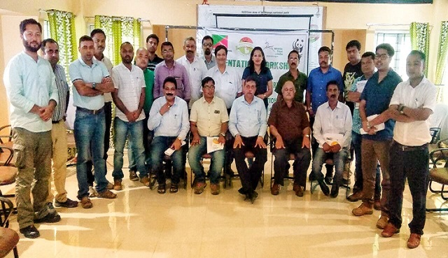 A one-day orientation workshop on wildlife issues for the veterinary officials of the bordering districts of Kaziranga National Park was held in the Convention Centre of Kaziranga National Park at Kohora on June 11, 2018. Photo: Uttam Saikia