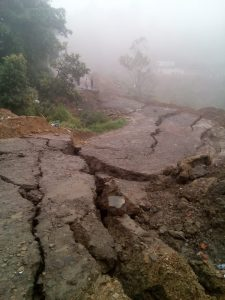 Landslide near Kohima in N Nagaland.