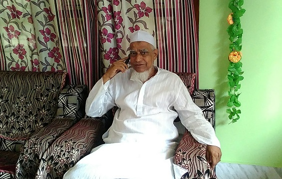 Former Katigorah legislator Maulana Ataur Rahman Mazarbhuiya at his residence. Photo: Northeast Now