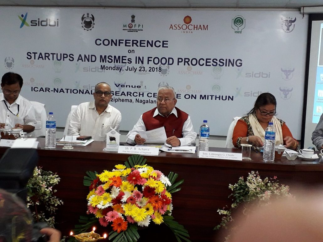 Nagaland governor P.B. Acharya (second from right) addressing the conference on Monday.