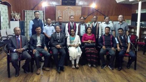 Sinlung Hills Council  members with Aizawl DC. Photo: Sangzuala Hmar