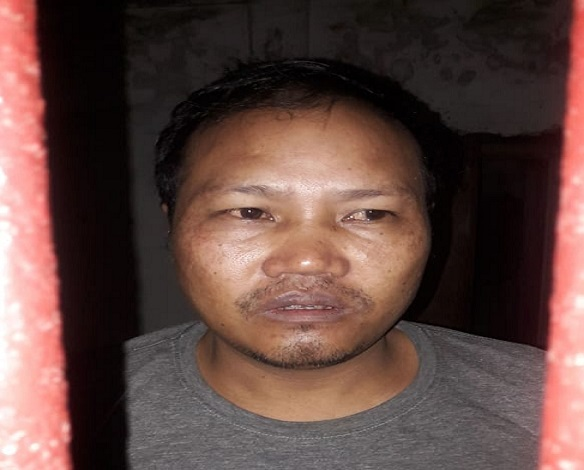 Secretary of Human Resource and Welfare of Zeliangrong United Front (Kamson) Faction arrested by Assam Rifles on July 21, 2018. Photo: Northeast Now