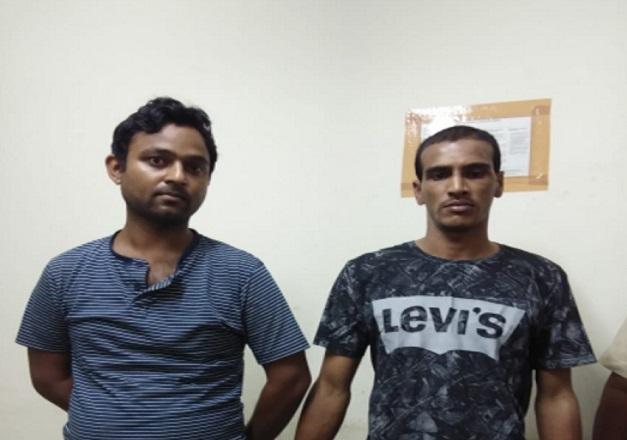Two accused Tahir Hussain (left) & Sajidur Rahman. Photo: Mayukh Goswami