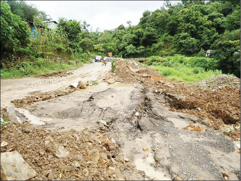 kohima sinking road