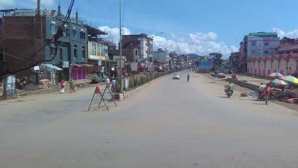 manipur deserted on strike day
