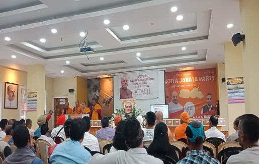 An all faith prayer meeting for Atal Bihari Vajpayee being held in Shillong on August 24, 2018. Photo: Northeast Now
