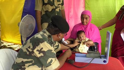 BSF tripura medical camp