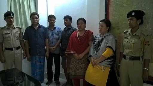 Tripura Police arrested five Bangladeshis from Gandachera area on August 23, 2018. Photo: Panna Ghosh