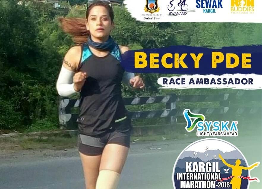 Meghalaya's Becky Pde selected race ambassador of Kargil International Marathon 4