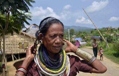 A Bru woman at a refugee camp in Tripura. File photo: Panna Ghosh