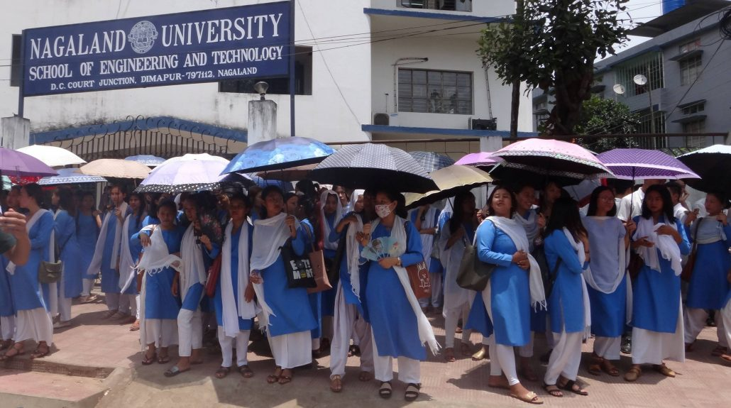 Students staging protest in Kohima.  File photo:  Bhadra Gogoi