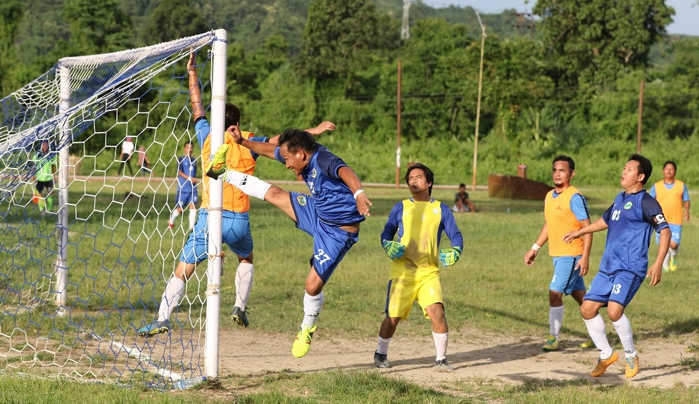 Siang Veteran FC thrashed Committee Veteran FC by 3 goals in Itanagar Solung Festival Football Tournament. Image: Northeast Now