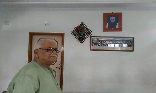 Doyen of BJP in Assam former Union minister Kabindra Purkayastha reminiscing his days with Atal Bihari Vajpayee at his Silchar residence on August 16, 2018. Photo: Northeast Now