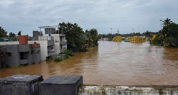 A flood-hit area in Kerala.