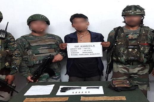 Arrested NSCN (K) cadre. (File image)