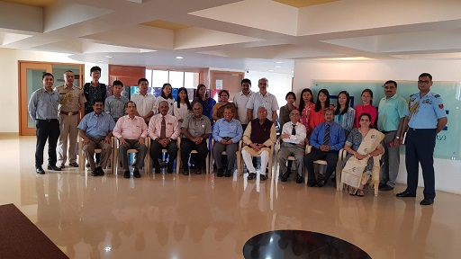 Nagaland governor PB Acharya (sitting fourth from right) with NITTE University chancellor, academic heads and students from Nagaland at NITTE University on Thursday. Photo: Bhadra Gogoi