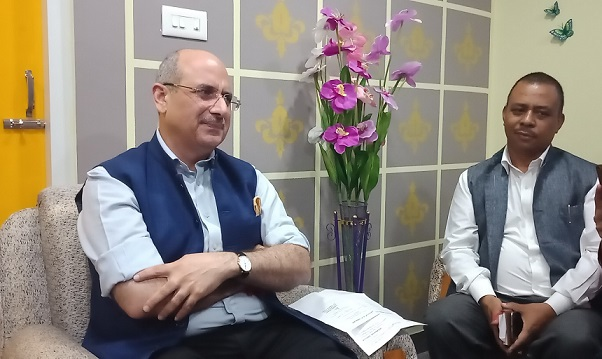 BJP national spokesperson also in-charge of the party in Meghalaya Nalin Kohli (left). File photo: Northeast Now