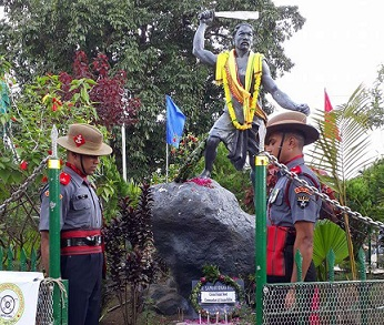 43 Assam Rifles' Guard of Honour for freedom fighter Sambudhan Phonglo 2