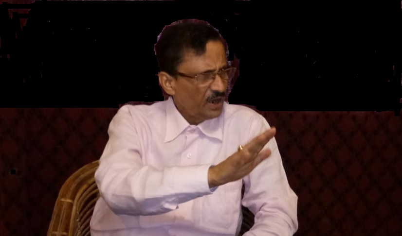 Pradip Dutta Roy, founder president of ACKHSA briefing media at Silchar on August 1, 2018. Photo: Northeast Now