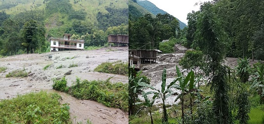 Landslides in Wokha and Tobu on August 1, 2018. File Photo: Northeast Now