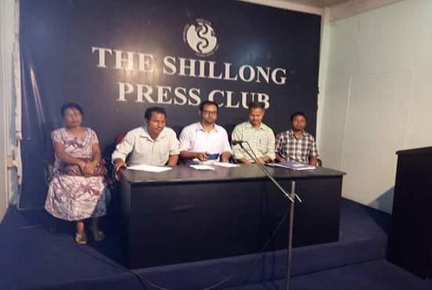 AMSSATA briefing media at Shillong. Photo: Northeast Now