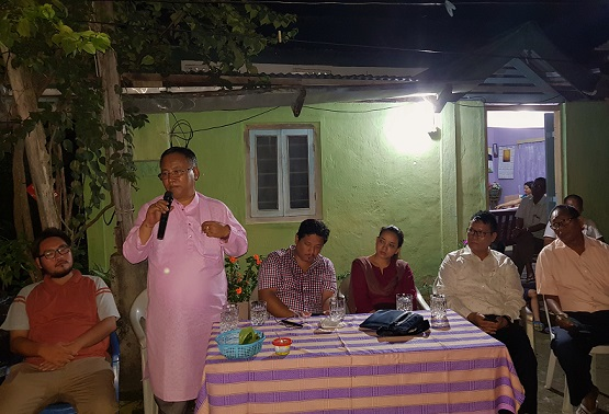 Manipur health minister L Jayantakumar Singh campaigning for Meghalaya CM Conrad K Sangma at South Tura on August 18, 2018. Photo: Northeast Now