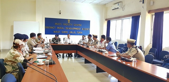 West Garo Hills district administration reviewing law and order and security arrangement to ensure a free and fair and smooth conduct of the by-election slated for August 23. Photo: Northeast Now