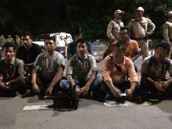 manipur scribe protest