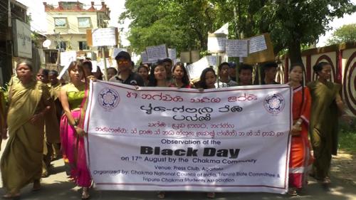 chakma protest in Tripura