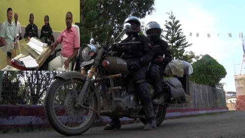 women biker on india journey