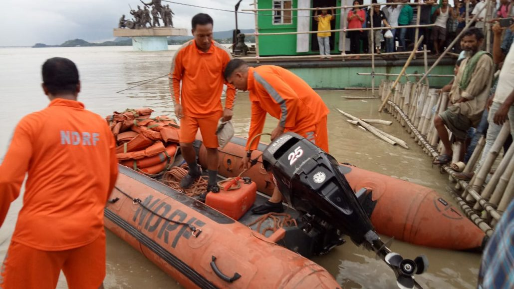 NDRF team carrying out rescue operation in Brahmaputra. File Photo: Northeast Now