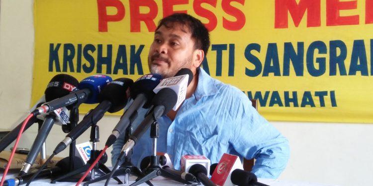KMSS leader Akhil Gogoi. File Photo: Northeast Now