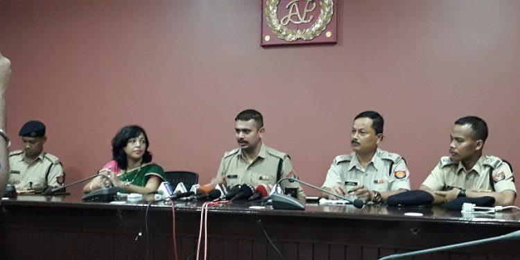 Darrang SP Sreejith T addressing media at Mangaldai on Saturday. Photo: Mayukh Goswami