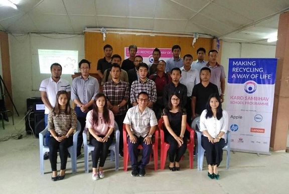 Karo Sambhav, an E-waste Producer Responsibility Organisation of prominent brands like Apple, Dell, HP and Lenovo launched its school programmes in Aizawl on Tuesday. Photo: Sangzuala Hmar