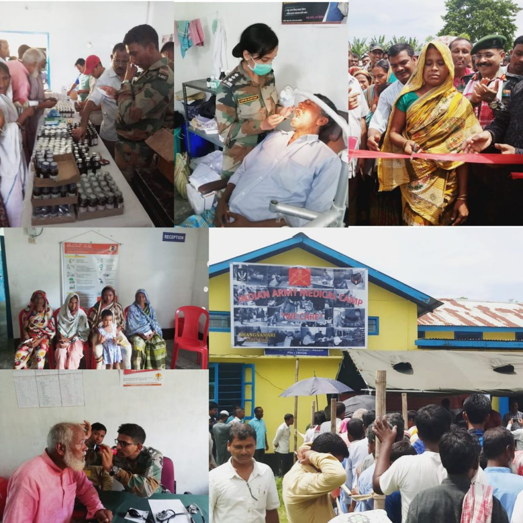 ARMY'S RED HORNS DIVISION ORGANISED MEDICAL CAMP