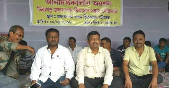 Contractors hunger strike