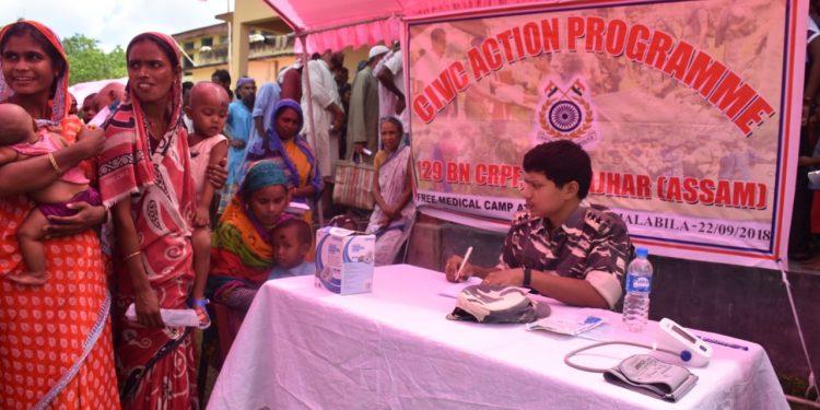 CRPF medical camp in Kokrajhar