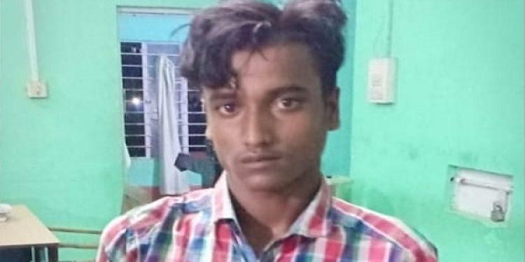 Darrang police on Sunday evening nabbed one Billal Ali (20) S/O Mantaz Ali, a resident of Paniakhat village in connection with the sensational incident of attack on the inmates of Dhula based Kasturba Gandhi Balika Vidyalaya. Photo: Mayukh Goswami