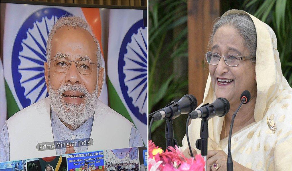 Narendra Modi and Sheikh Hasina (File image)