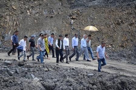 The central team inspecting landslide-affected areas in Kohima on Thursday. Photo: Northeast Now