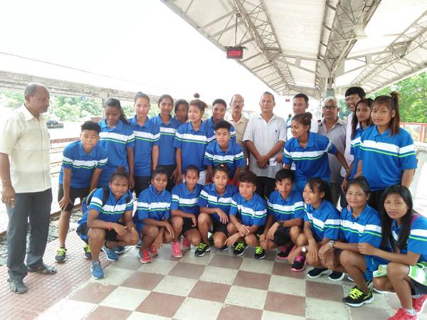 Assam women football squad leaves for national championship