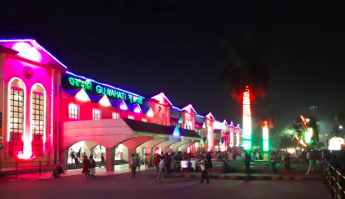 Guwahati railway station decked up for tourism festival