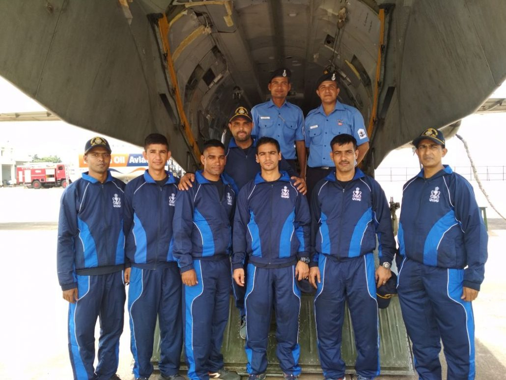 Indian Navy rescue team on way to Sivasagar on August 3, 2018.