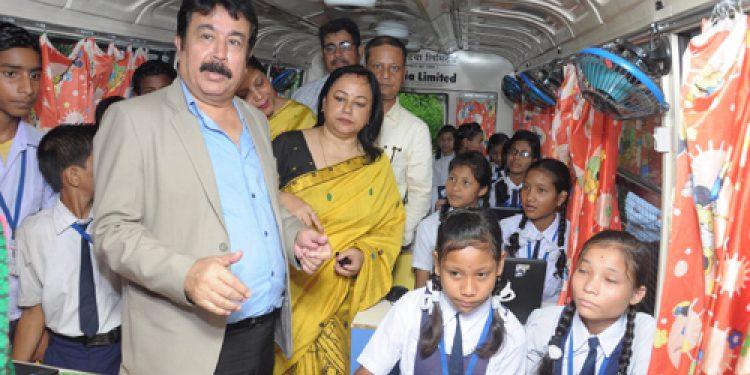 Oil CMD visits Ushapur High school in Dibrugarh