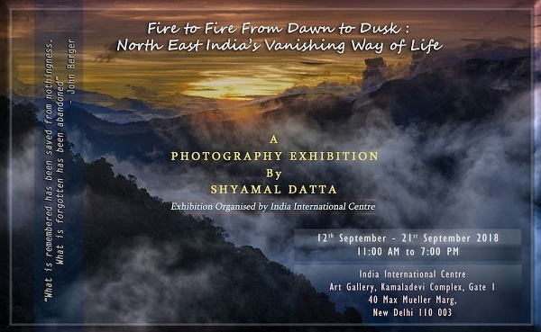 India International Centre has organized a ten-day photography exhibition by former Nagaland governor Shyamal Datta from September 12 at New Delhi. Photo: Northeast Now