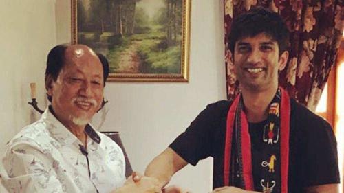 Sushant Singh Rajput with Neiphiu Rio