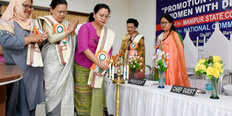 social welfare minister nemcha kipgen attending a manipur state women commission function in manipur -a DIPR file picture