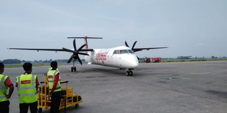 SpiceJet started its inaugural Pakyong to Guwahati flight