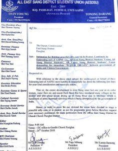 Arunachal Pradesh student body demands Water Treaty with China 1