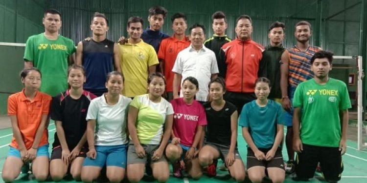Badminton team from Arunachal